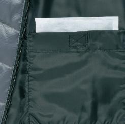 寅壱 防寒ブルゾン 2581-129 の背裏にカイロ入れの写真