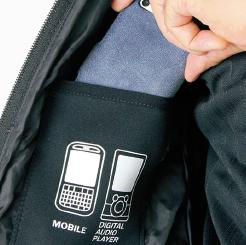 寅壱 防寒ブルゾン 2581-129 の右胸携帯電話内ポケットの写真