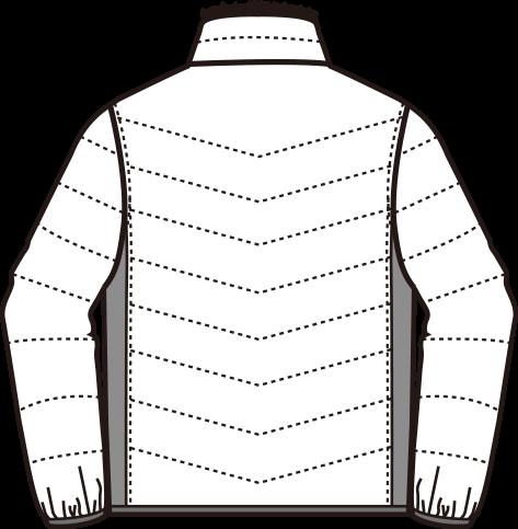 寅壱 防寒ブルゾン 2581-129のバック写真