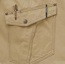 グランシスコ カーゴパンツ GC-5011のペン差し付左横ポケット写真
