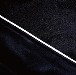防寒・防風ストレッチブルゾン G-2240 のヨーク反射パイピングの写真