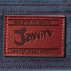 自重堂JAWINジャンパー 52400の革ラベル写真