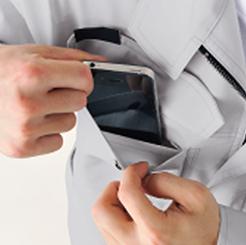 立体カットブルゾン AS-1930 の携帯電話収納ポケットの写真