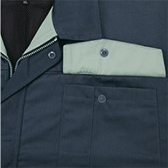 裏ポケットのフラップ裏面の配色/25:チャコールグレー