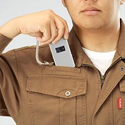 右胸ループ付きマルチポケット(ストラップはついていません。)