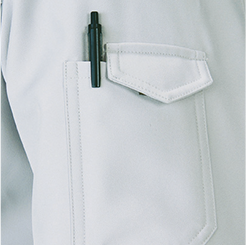 左袖昨日ポケット(ペン差し付)