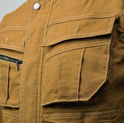 寅壱 蛇腹ライダースジャケット 3930-554 の大容量胸ポケットの写真