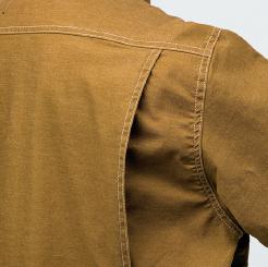 寅壱 蛇腹ライダースジャケット 3930-554 の背身ノーフォーク仕様の写真
