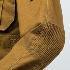 寅壱 蛇腹ライダースジャケット 3930-554  の肘部分に蛇腹プリーツの写真
