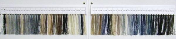 タイヤー絹ぬい糸67カラーサンプル帳