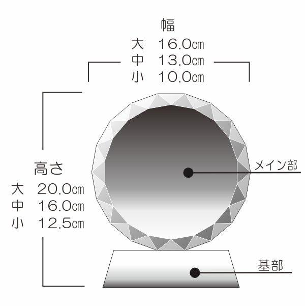 杯型トロフィーサイズ表