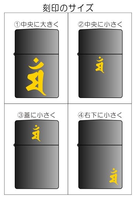 梵字の配置