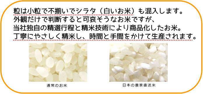 丁寧にやさしく精米し、時間と手間をかけて生産。農家直送米