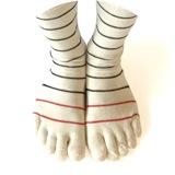 綿orウールの5本指靴下