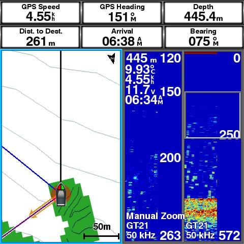 走った場所、釣れた場所を水中地形図化