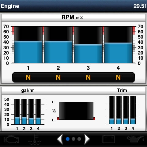 NMEA2000 インターフェース 操作画面
