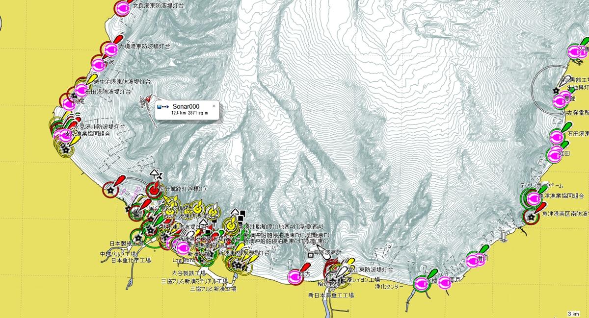 日本全国版 NewPec+海底地形図