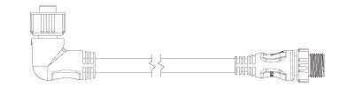 NIMEA2000 直角 バックボーン/ドロップケーブル 詳細図