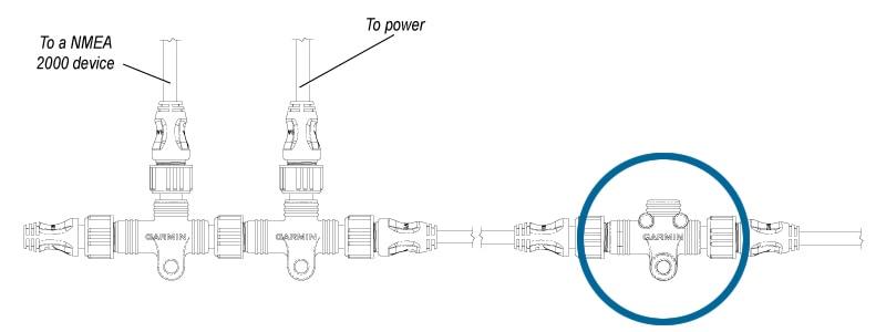 NMEA2000 インラインターミネーター ネットワーク構成の位置 ネットワーク図