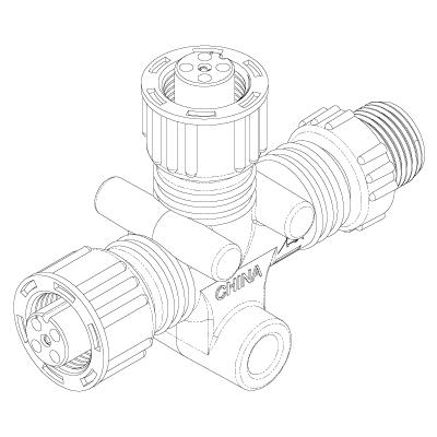 NIMEA2000 Tコネクター 詳細図