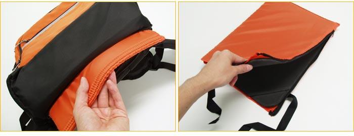 オプションの防災頭巾兼座布団