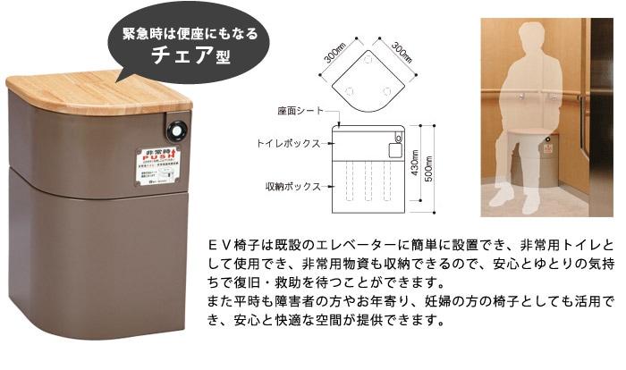 エレベーター用防災キャビネット(EV椅子)