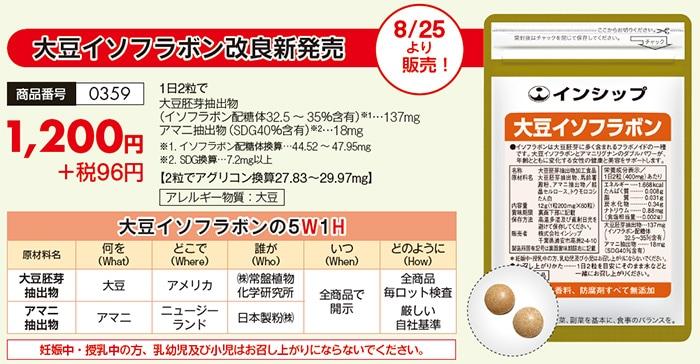 大豆イソフラボン 改良新発売!