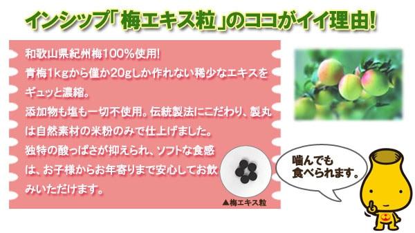 インシップ「紀州梅エキス粒」のココがイイ理由!