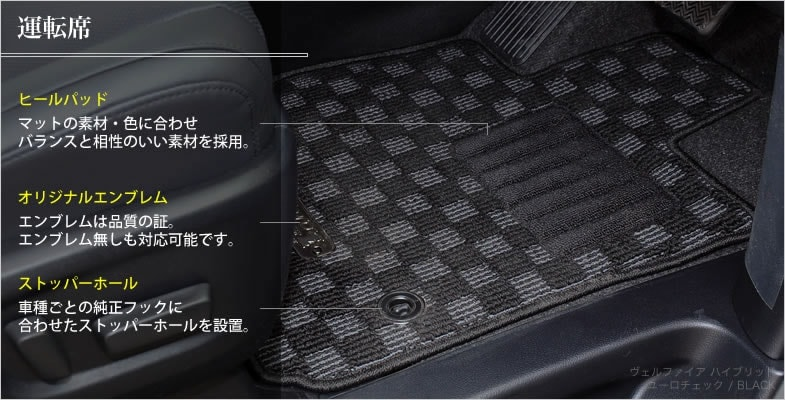 ユーロチェック:ヴェルファイアハイブリッドの装着イメージ:運転席