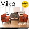 北欧 ソファ ミルカ ダイニングテーブル 3点セット Cタイプ