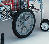 空気タイヤをオプションでノーパンクタイヤに変更できます。