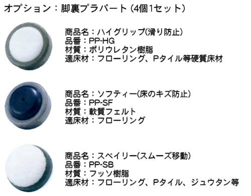 オプション:3種類から選べる足裏プラパート
