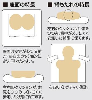 座面の特徴&背もたれの特徴