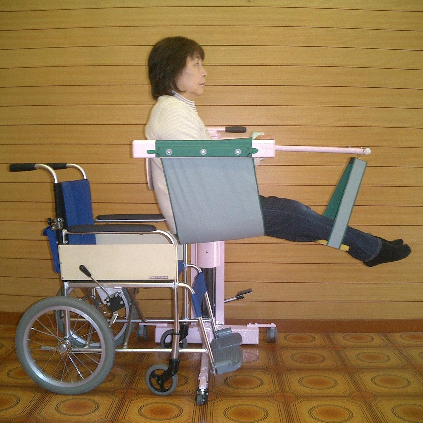 長座位での車椅子への移乗