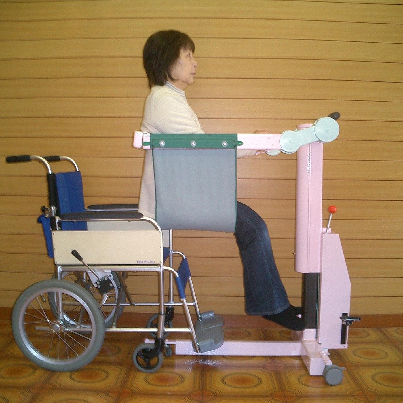 端座位での車椅子への移乗