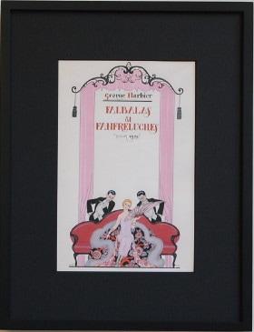 バルビエの絵 ひだ飾りとレース飾り表紙 1925年