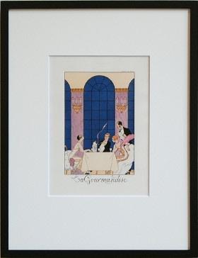 バルビエの絵 美食 グルメの絵 ディナーの絵 食事の絵