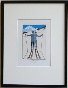 バルビエの絵 スキー 冬