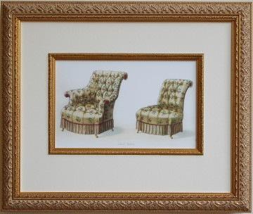 家具の絵 イエローソファ