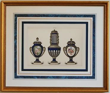 セーブル ポーセリン セーヴル ブルー 紺 壺