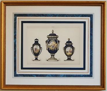 セーブル ポーセリン セーヴル 壺 ブルー
