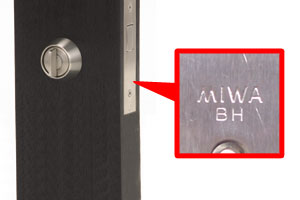 MIWA,美和ロック U9BH(DZ、LD,LDSP)シリンダー