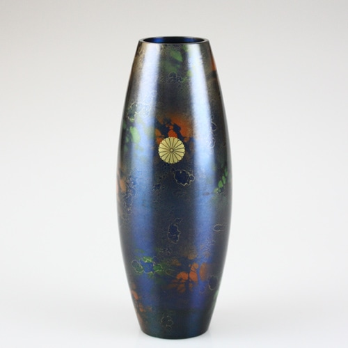 叙勲褒章の返礼品 青銅製花瓶 四季 新青空
