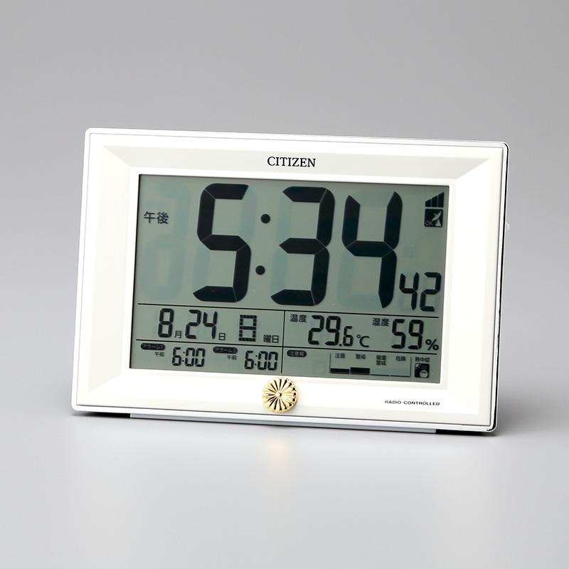 叙勲褒章の返礼品 シチズン電波時計パルデジット  ワイドDL8RZ151-003