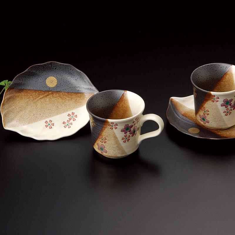 叙勲褒章返礼品 九谷焼ペアコーヒー桜
