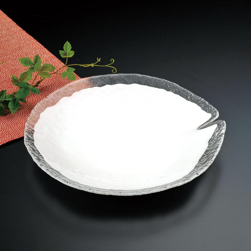 叙勲褒章の返礼品 ガラス器 白妙  大皿