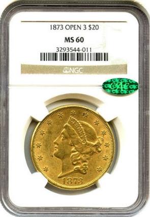 20ドル金貨リバティヘッド1873