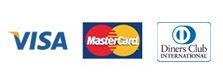 VVISA、MasterCard、Diners、American Express、JCB