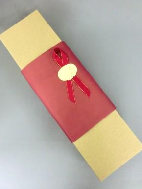 無料ギフト用包装紙 エンジ色