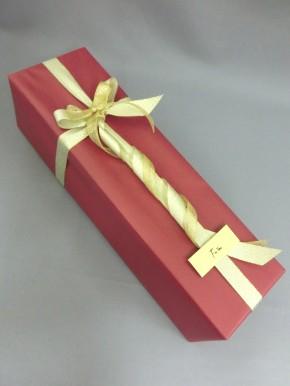 有料 エンジ色包装紙 & ゴールドリボン
